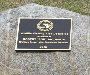 """Dedication Plaque Robert """"Bob"""" Jacobson"""